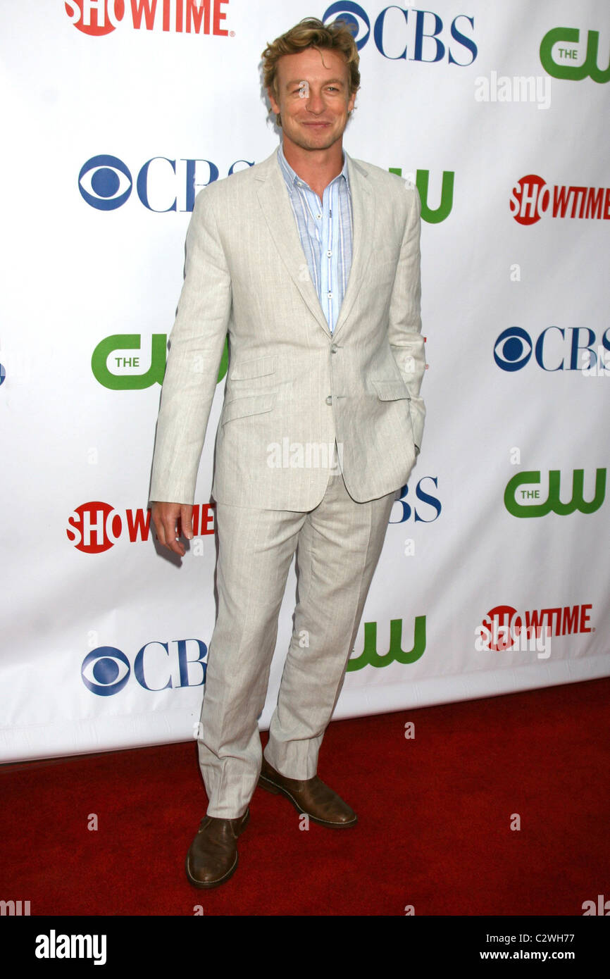 Simon Baker CBS, CW and Showtime Press Tour Stars Party at