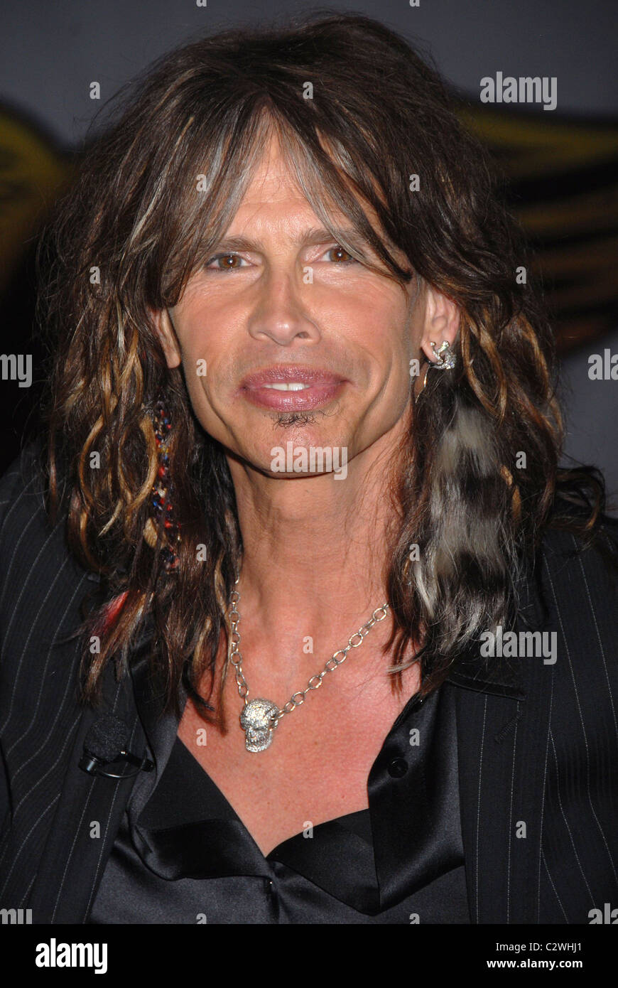 Steven Tyler Aerosmith launch the new video game 'Guitar Hero: Aerosmith' at Hard Rock cafe New York City, - Stock Image