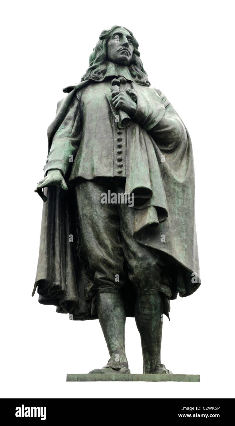 Den Haag / The Hague ('s Gravenhaage). Statue of Johan de Witt (1625-72) - Stock Image