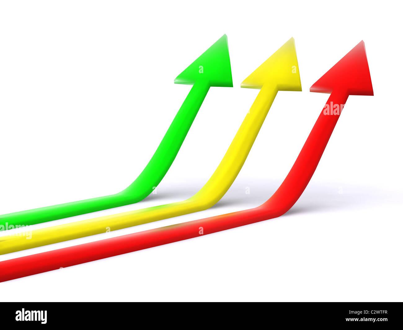 pointers. 3d arrow - Stock Image