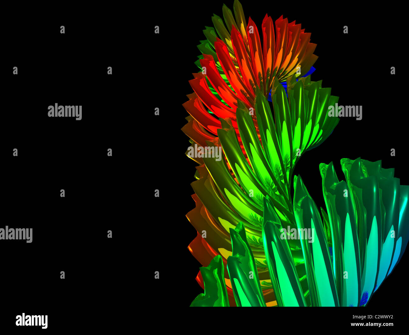 spiral abstract. 3d - Stock Image
