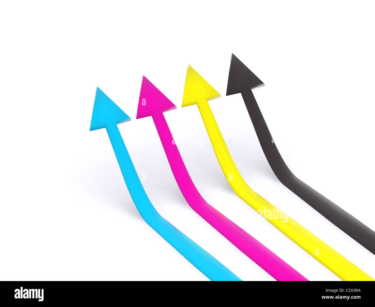 CMYK pointers. 3d - Stock Image