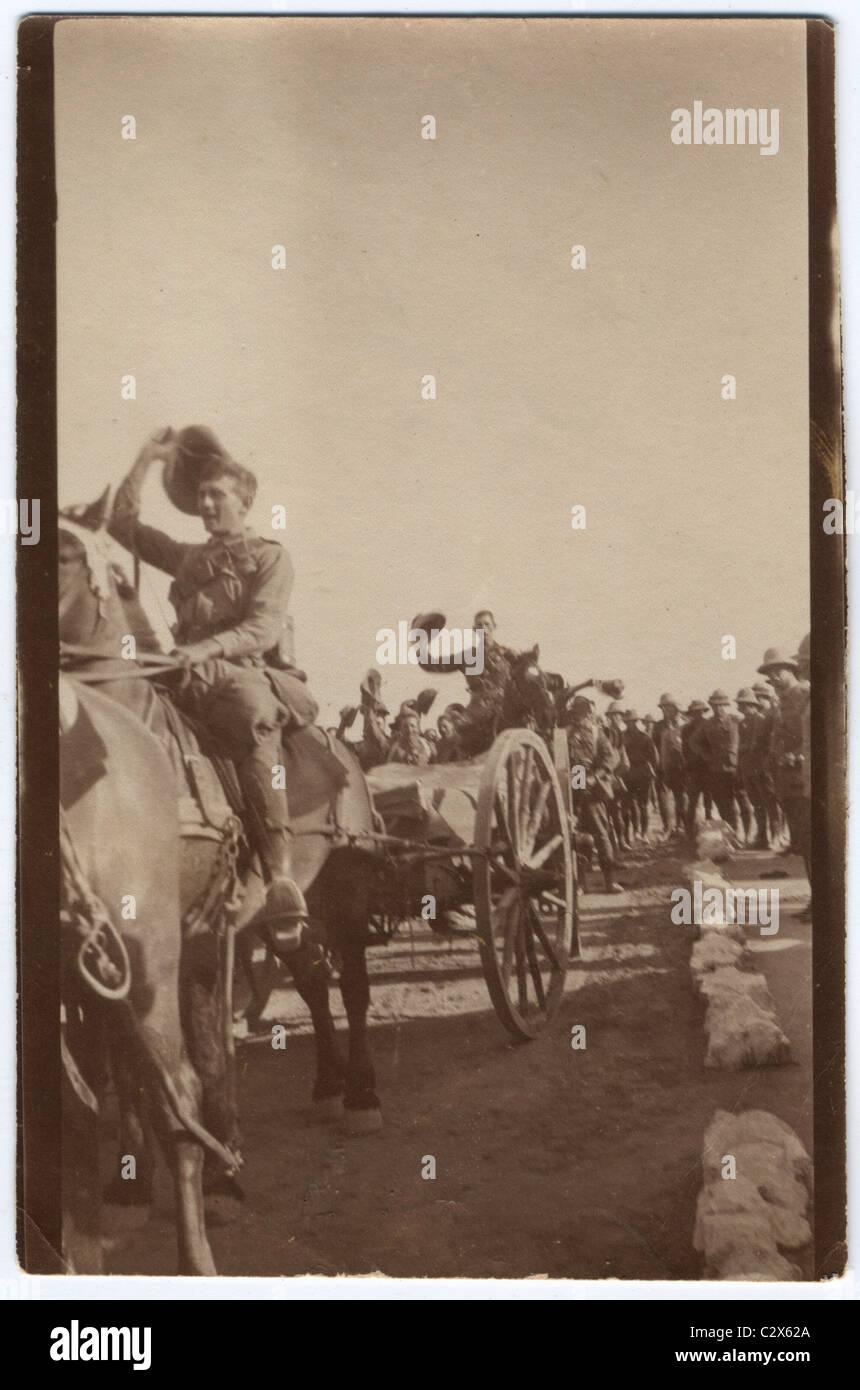World War One Australian soldiers Light Horse 6th - Stock Image