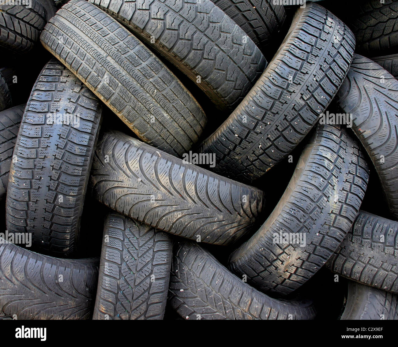 Used tire depot Stock Photo
