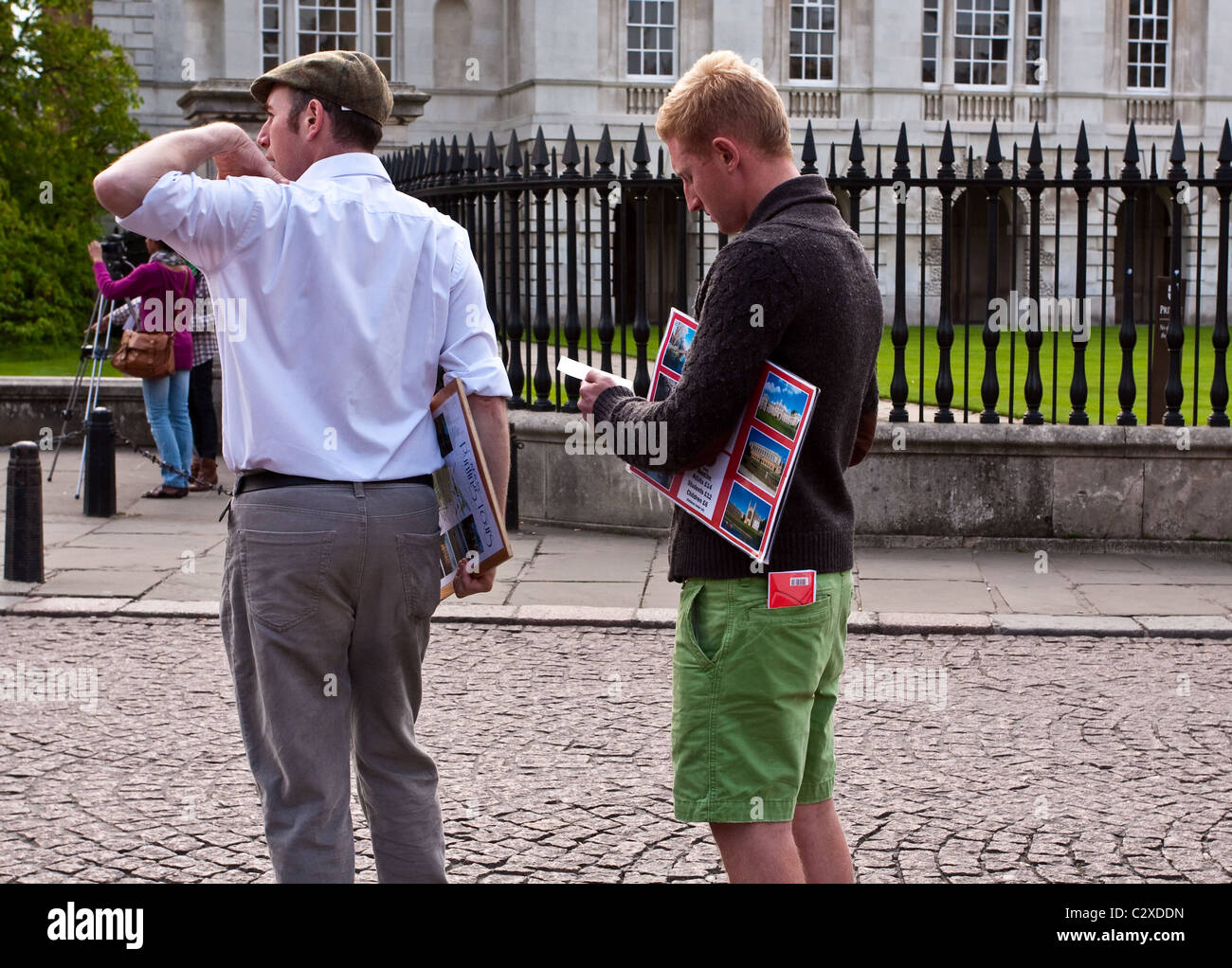 Tour guides in Cambridge - Stock Image