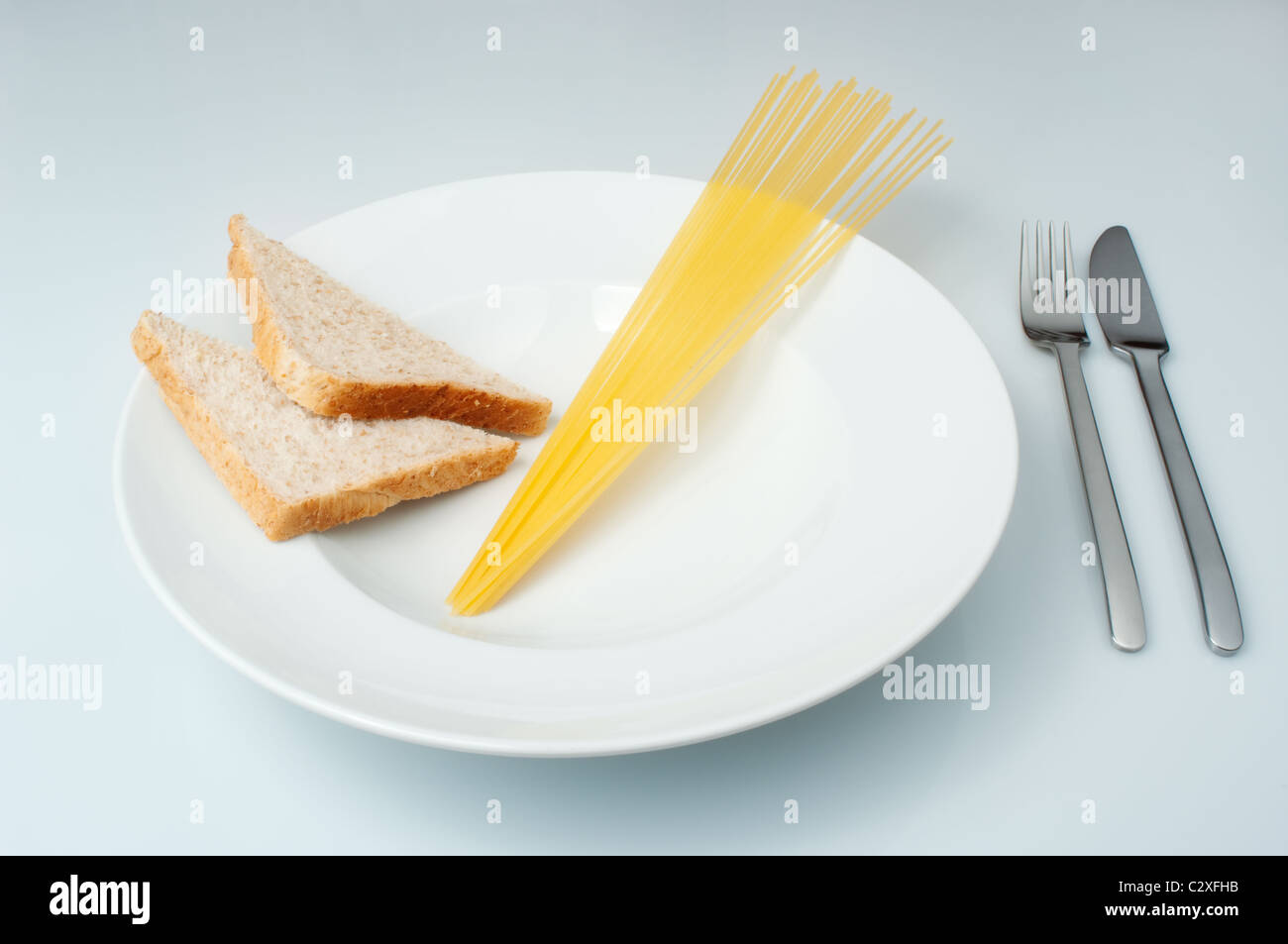 Bread and Pasta, Carbohydrates - Stock Image