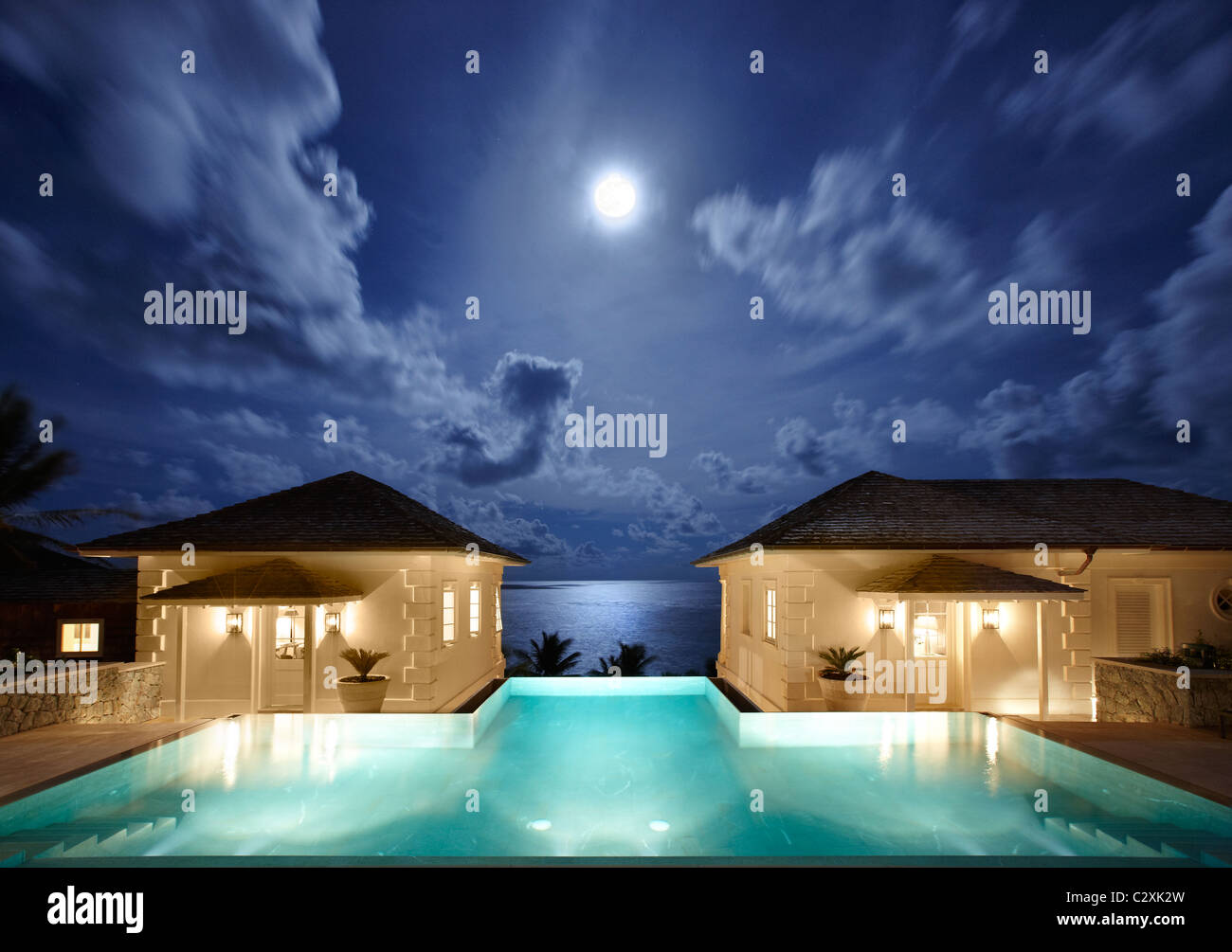 Sunrise Villa Mustique - Stock Image