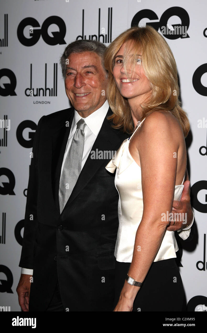 Tony Bennett and wife Susan Crow GQ Men of the Year Awards held at the Royal Opera House - inside arrivals London, - Stock Image