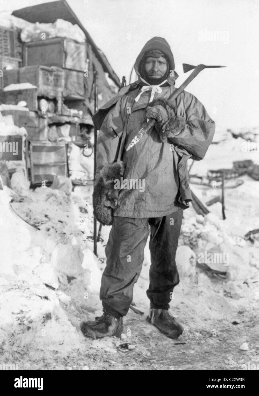 Edgar Evans (1876 - 1912) - a member of Robert Scott's Terra Nova Expedition that perished after reaching the - Stock Image