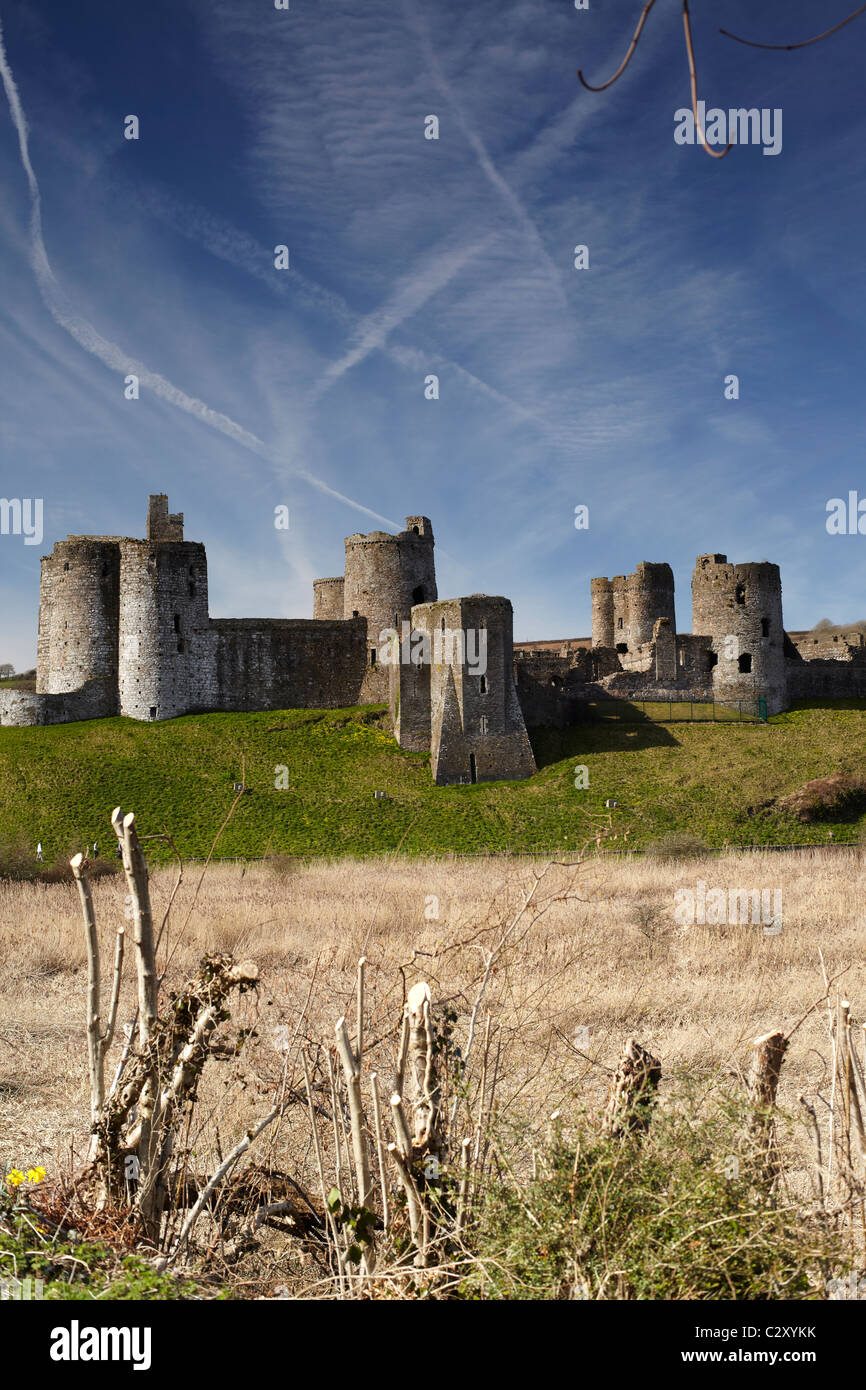 Kidwelly Castle, Carmarthenshire, West Wales, UK Stock Photo