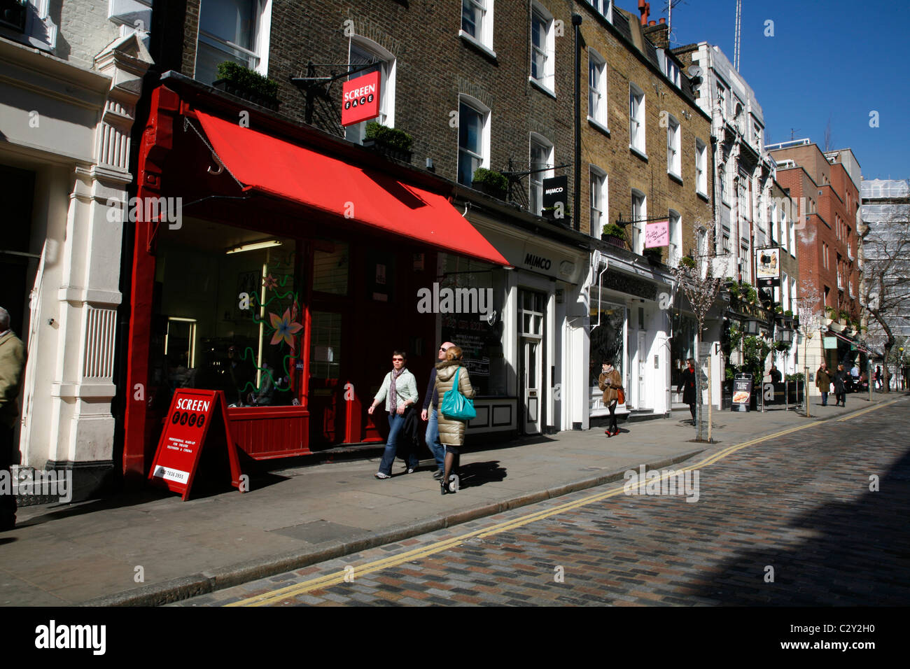Monmouth Street in Seven Dials, Covent Garden, London, UK - Stock Image