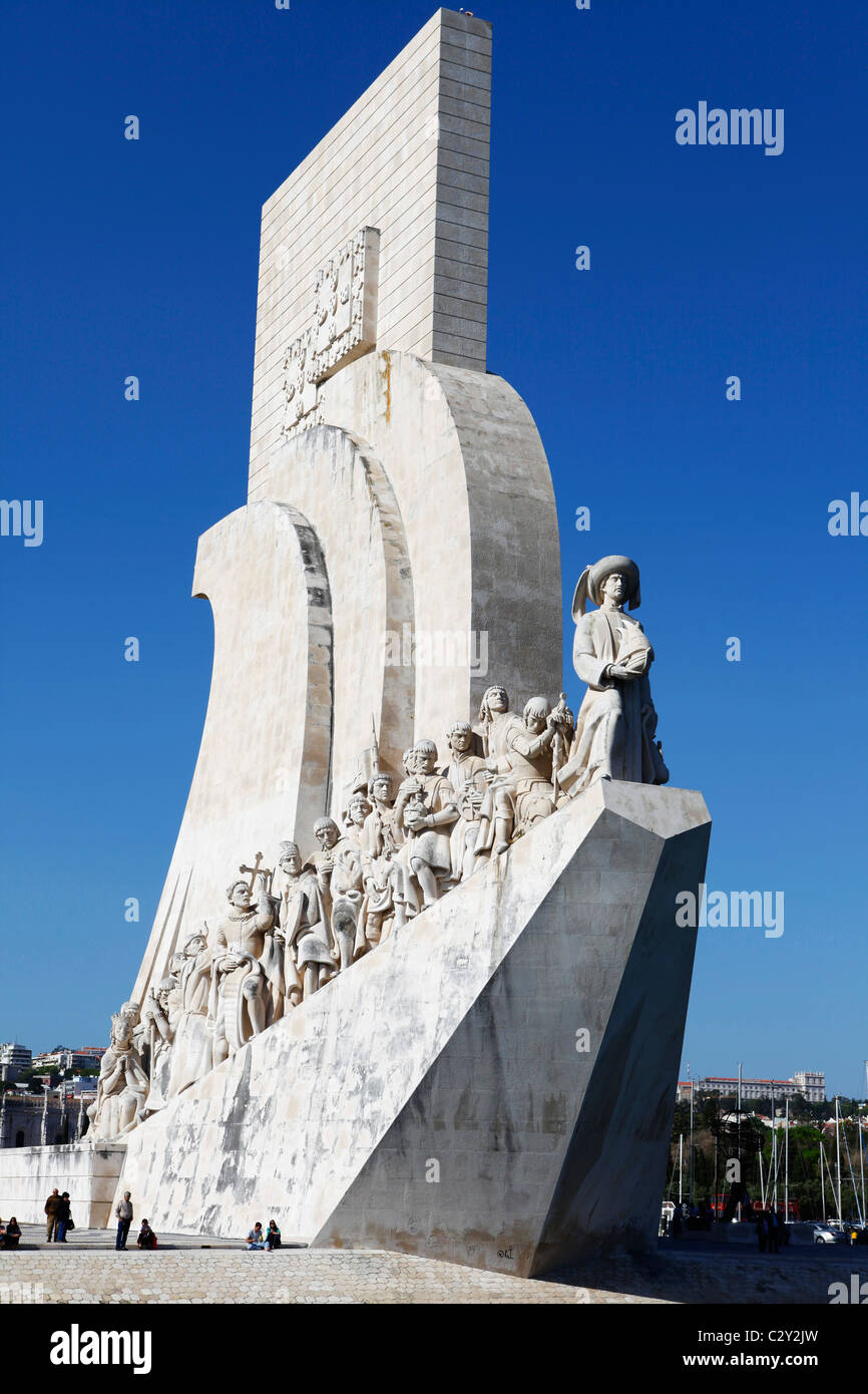 Monument of the Discoveries (Padrao dos Descobrimentos) in Belem, Lisbon, Portugal. - Stock Image