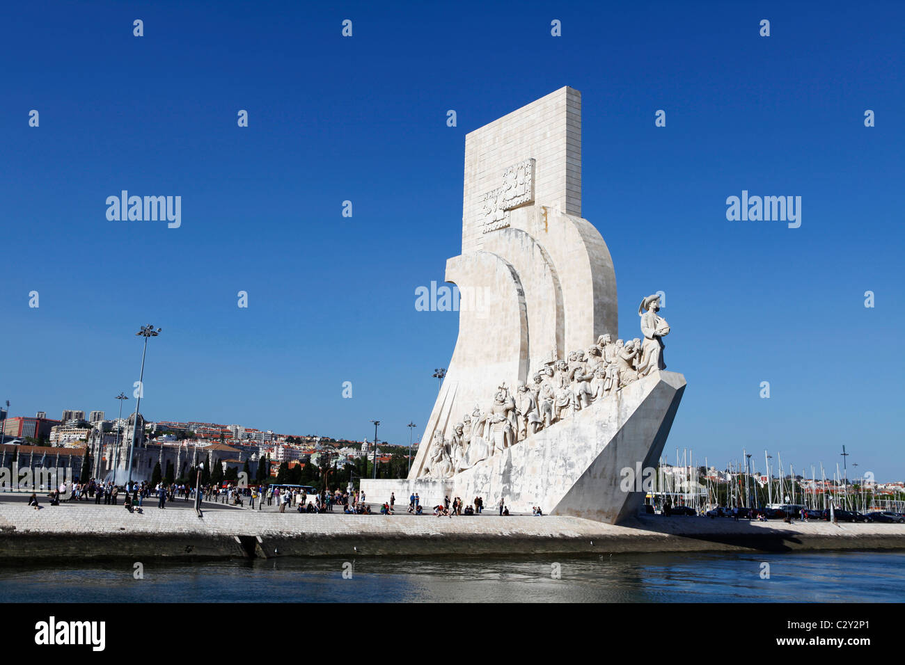 The Monument of the Discoveries (Padrao dos Descobrimentos) in Belem, Lisbon, Portugal. - Stock Image