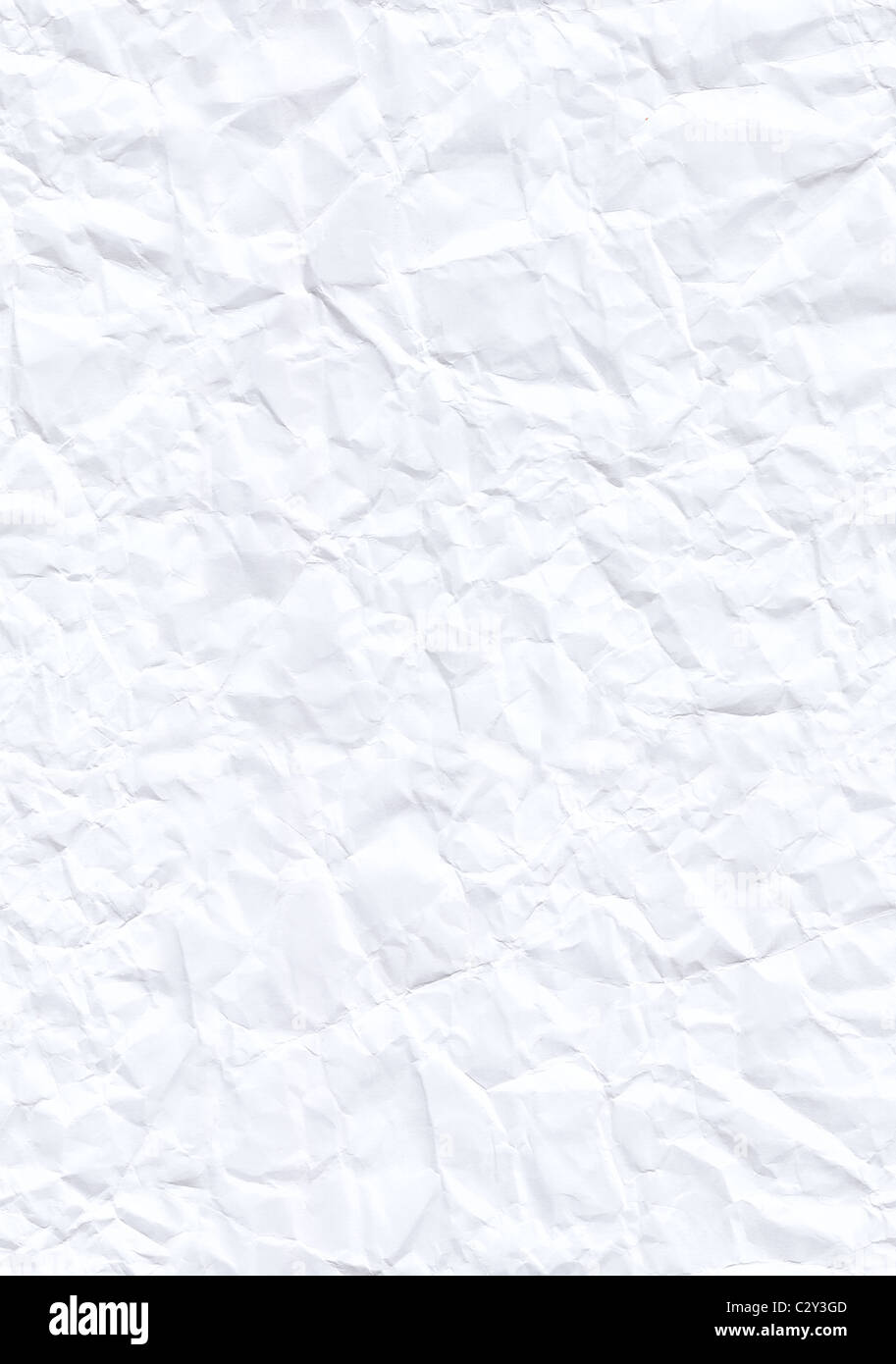 Creased white paper texture. Hi-res scan. Seamless texture perfect for tiling background - Stock Image