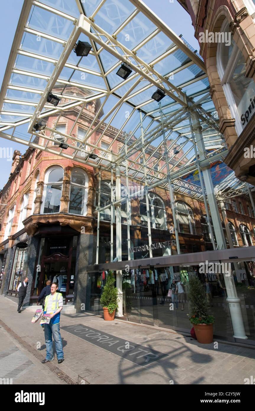 victoria quarter leeds shops shop shopping retail retailer retailers north yorkshire - Stock Image
