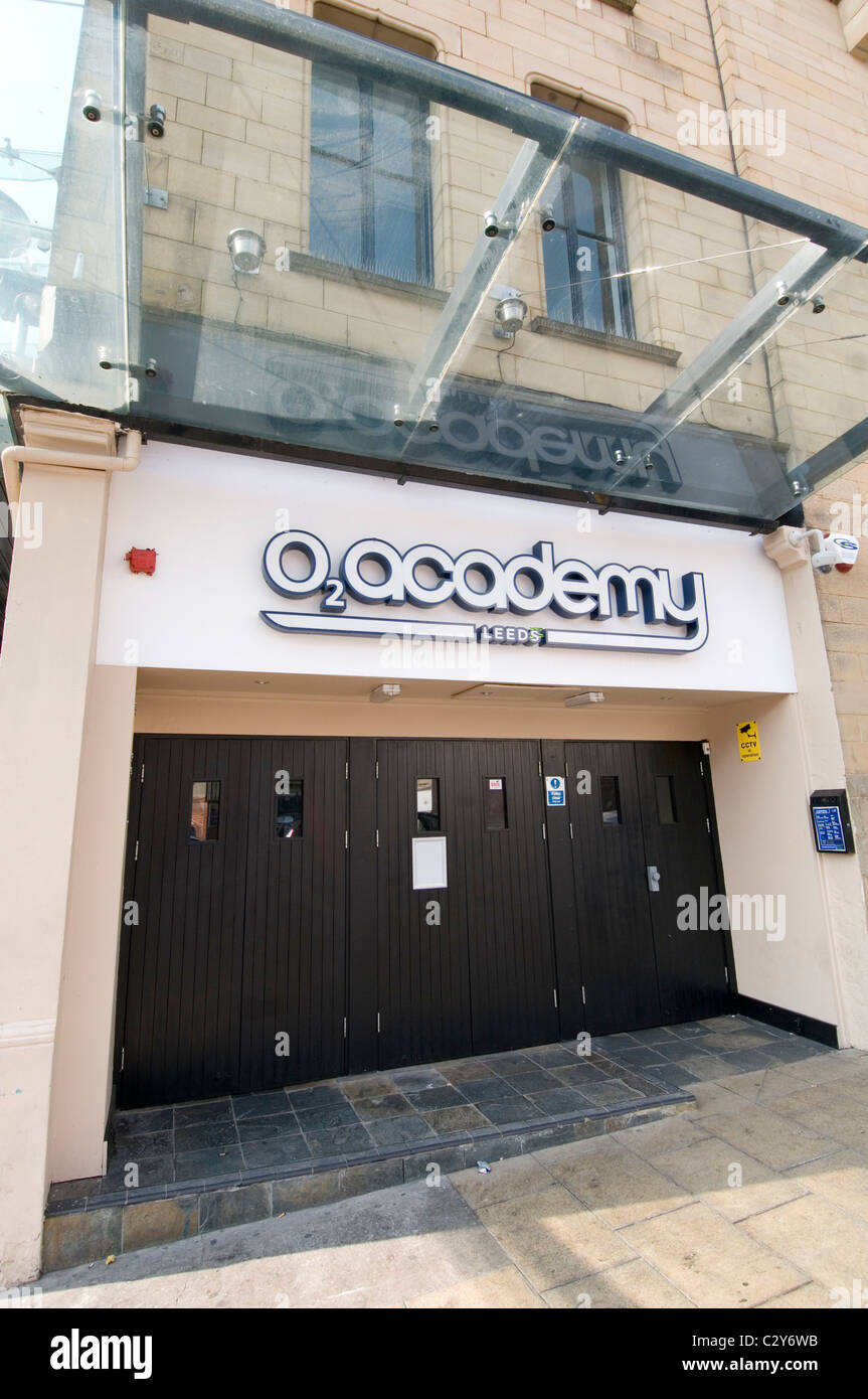 o2 academy leeds city center live music venue venues sponsorship title naming rights - Stock Image