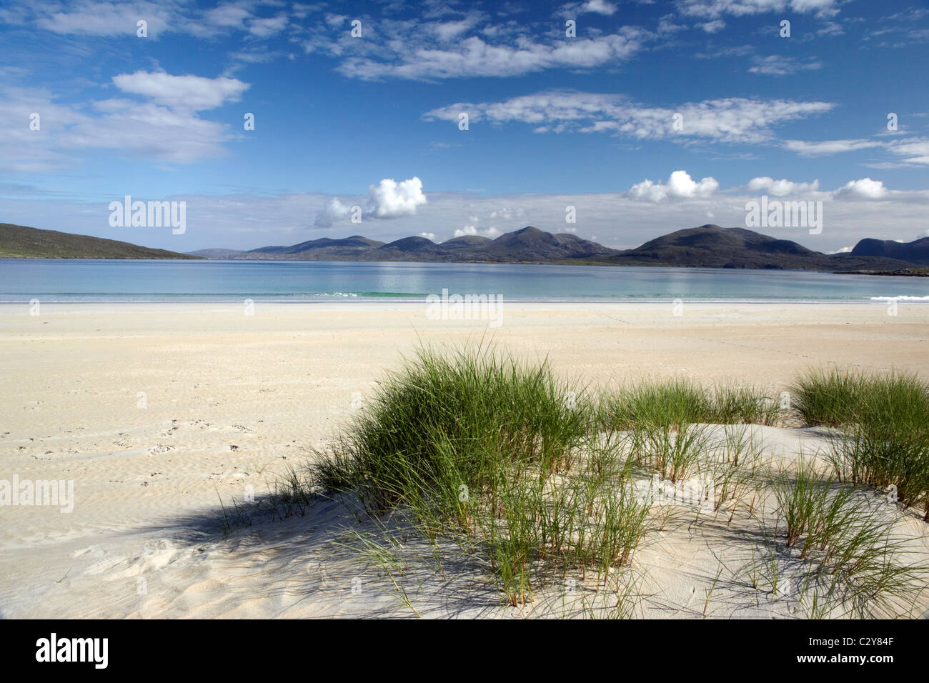 Deserted beach at Luskentyre on the Scottish Island of Harris in the outer Henrides - Stock Image