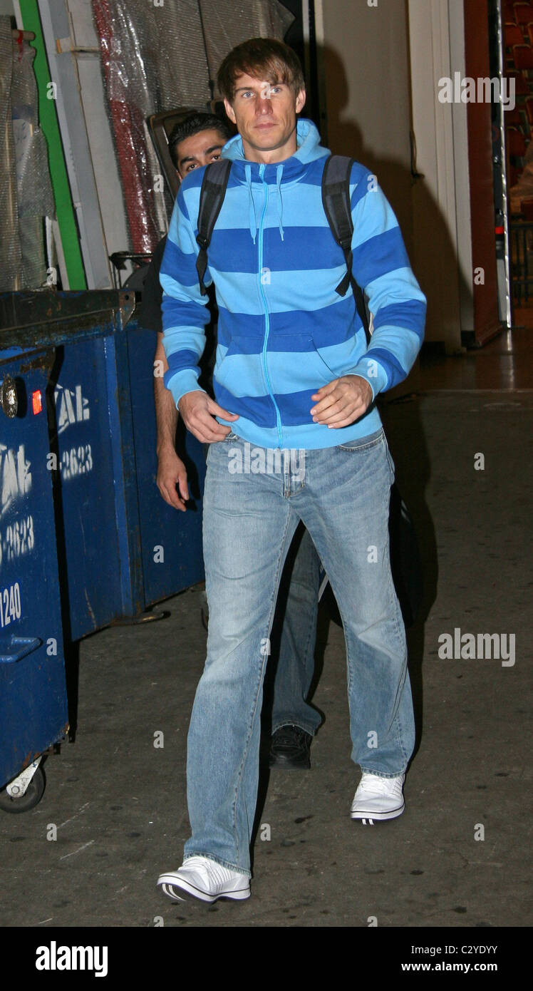 Tom Sietas leaving ABC studios after appearing on 'Live with Regis and Kelly' New York City, USA - 19.09.08 - Stock Image