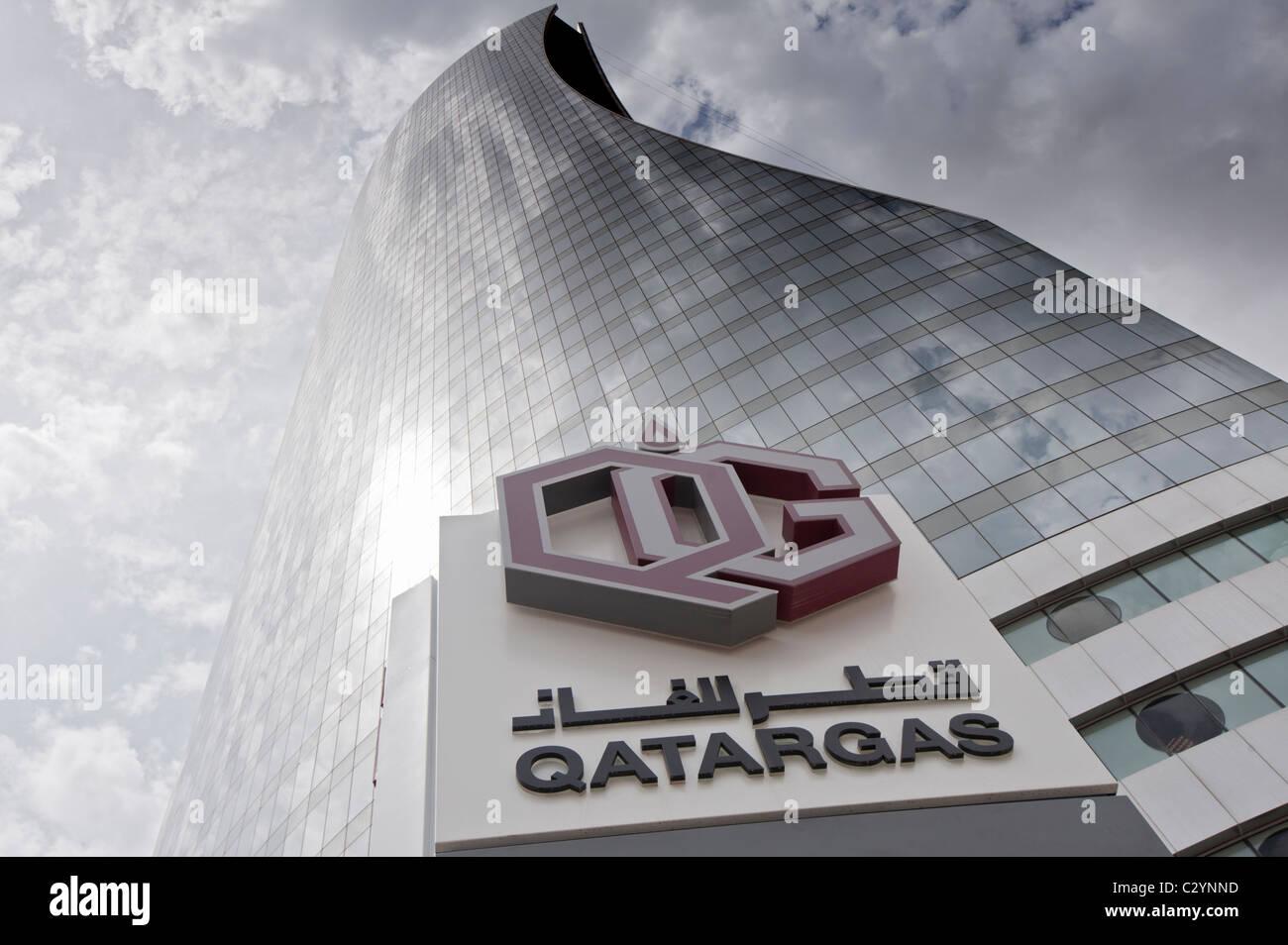 Energy company Qatargas headquarters in Doha Qatar Stock