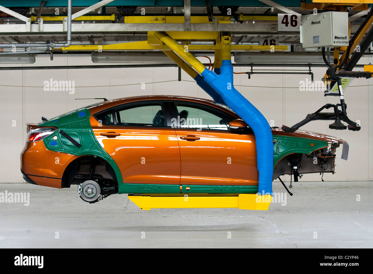The MG6 production line at Longbridge in Birmingham UK. - Stock Image