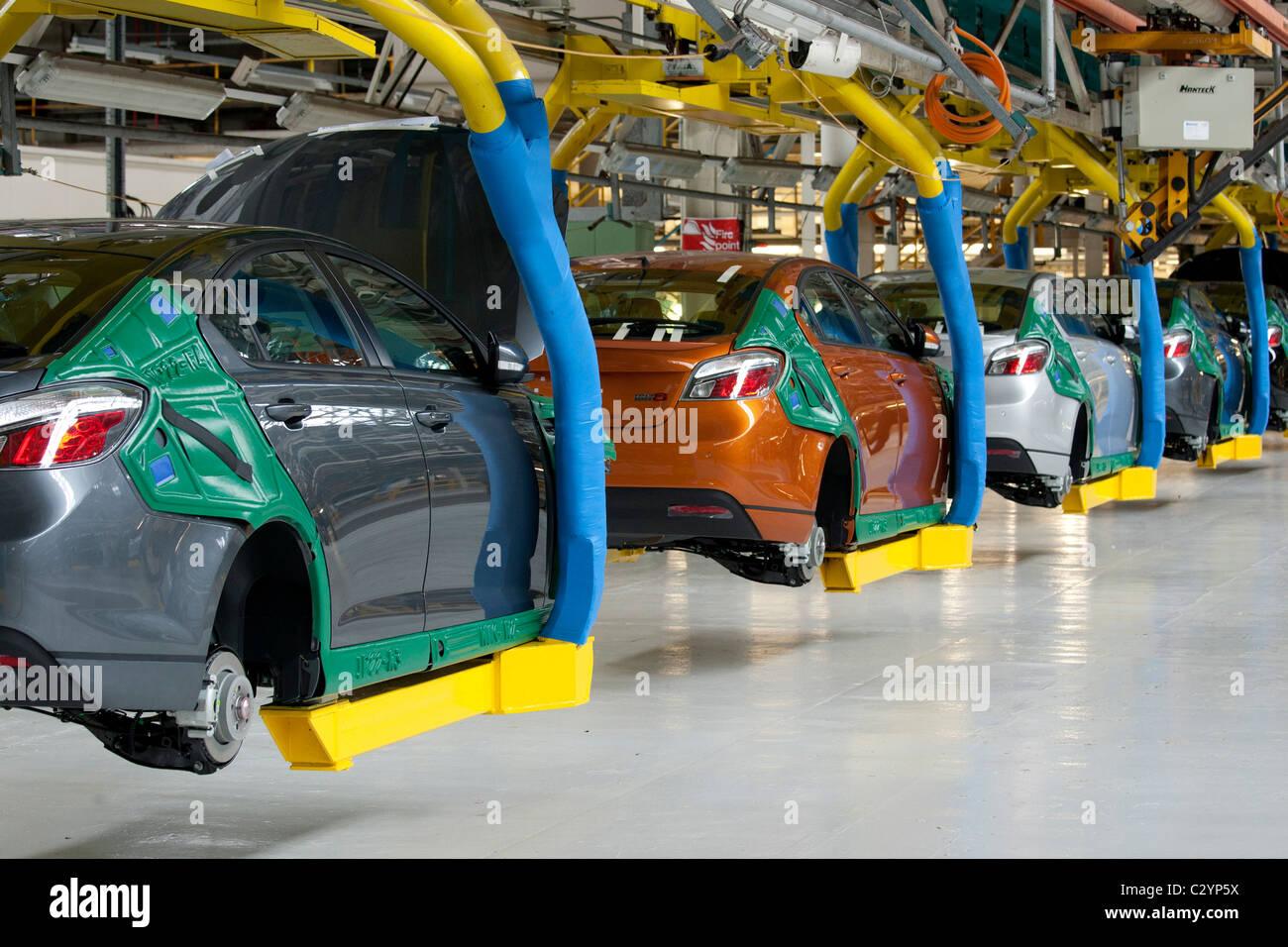 Production line of the MG6 motor car at Longbridge Birmingham - Stock Image