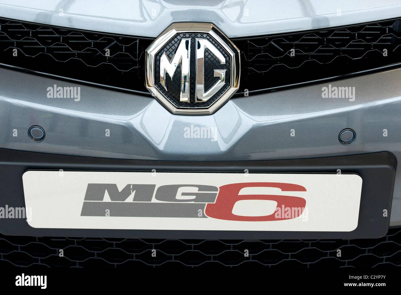 Launch day of the MG6 motor car in Longbridge Birmingham - Stock Image