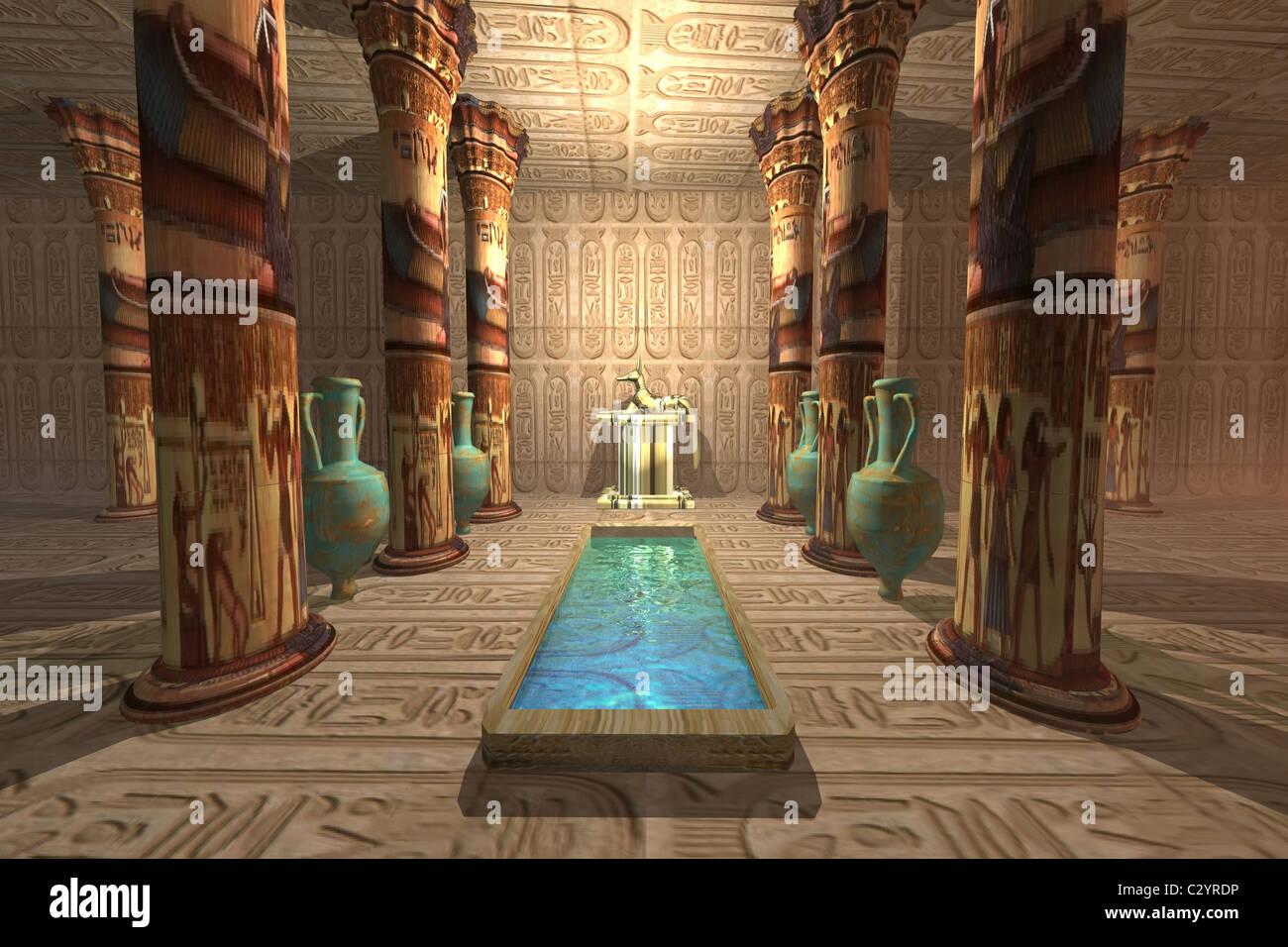 A temple to worship the Egyptian god Anubis Stock Photo