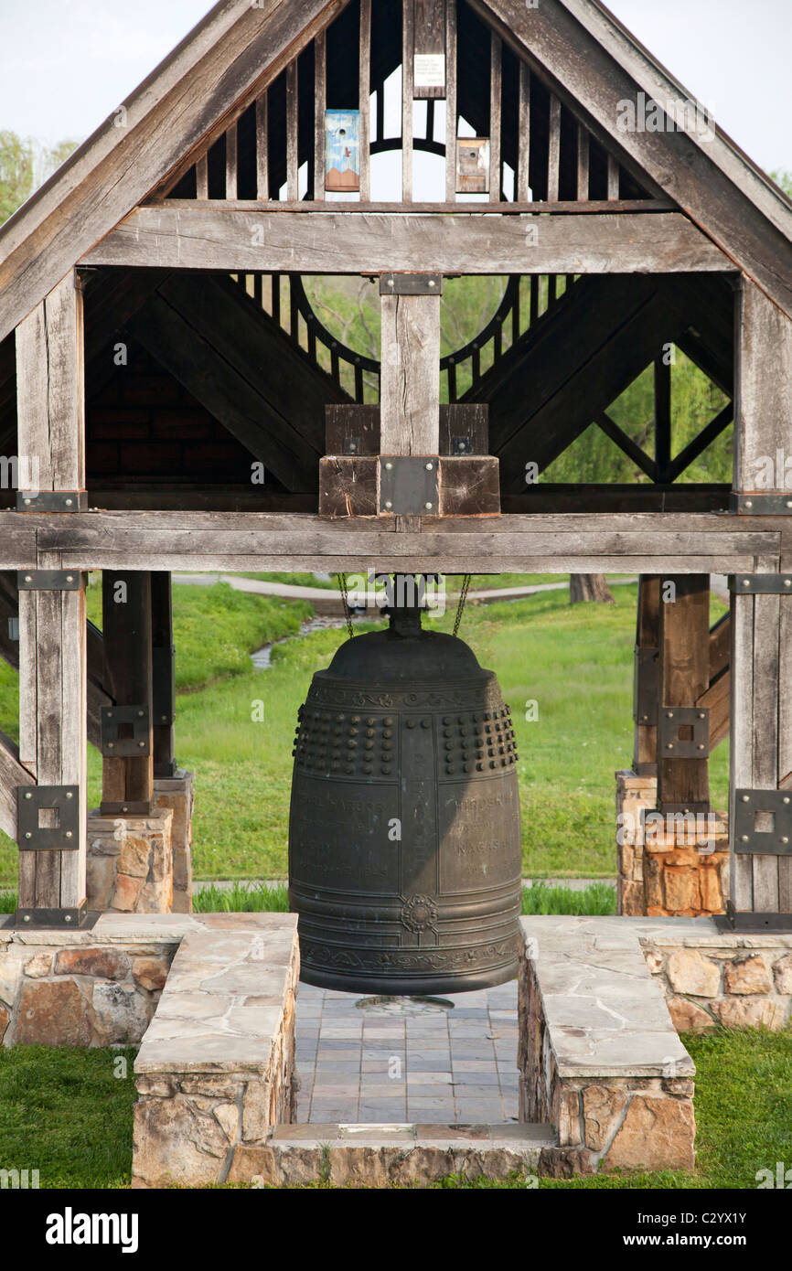 Japanese-American Friendship Bell in Oak Ridge, Tennessee - Stock Image