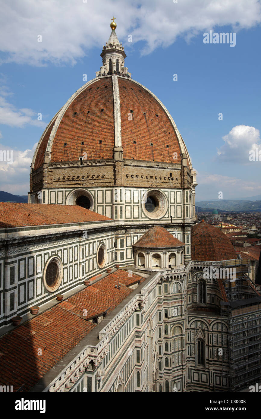 Brunelleschi cupola of Santa Maria del Fiore Cathedral, Florence, Italy Stock Photo