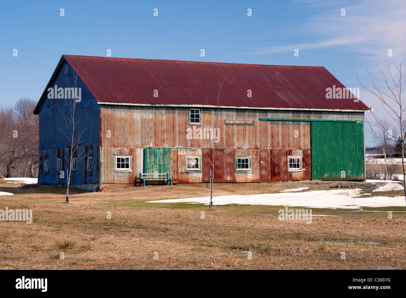 Old Corrugated Barn Roof In Stock Photos Amp Old Corrugated