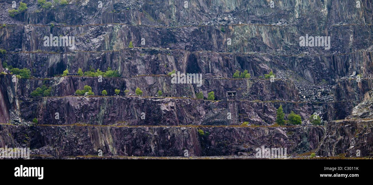 LLanberis Slate Quarry near Llanberis, Gwynedd, Wales Stock Photo