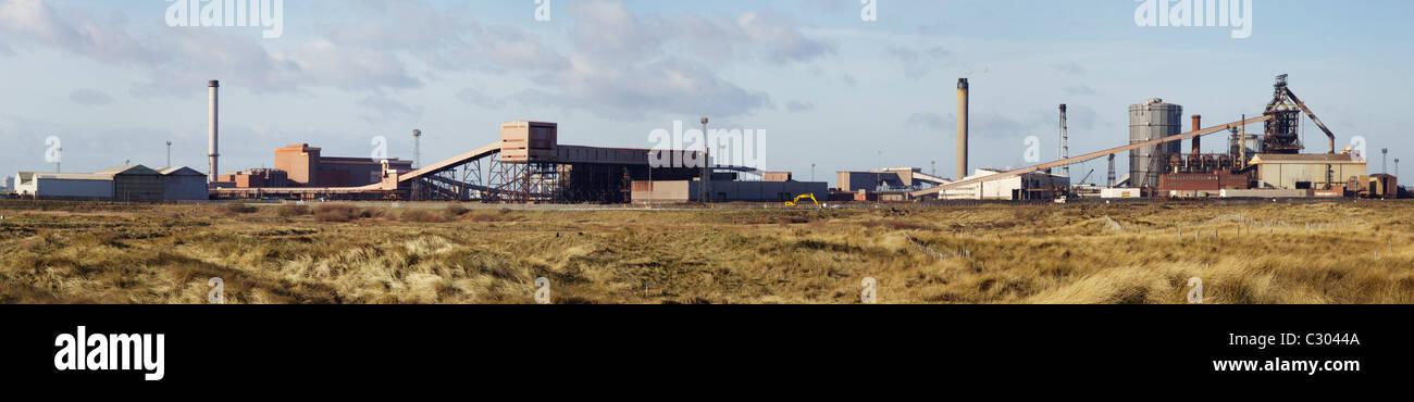 Steelworks panorama Redcar Teeside - Stock Image