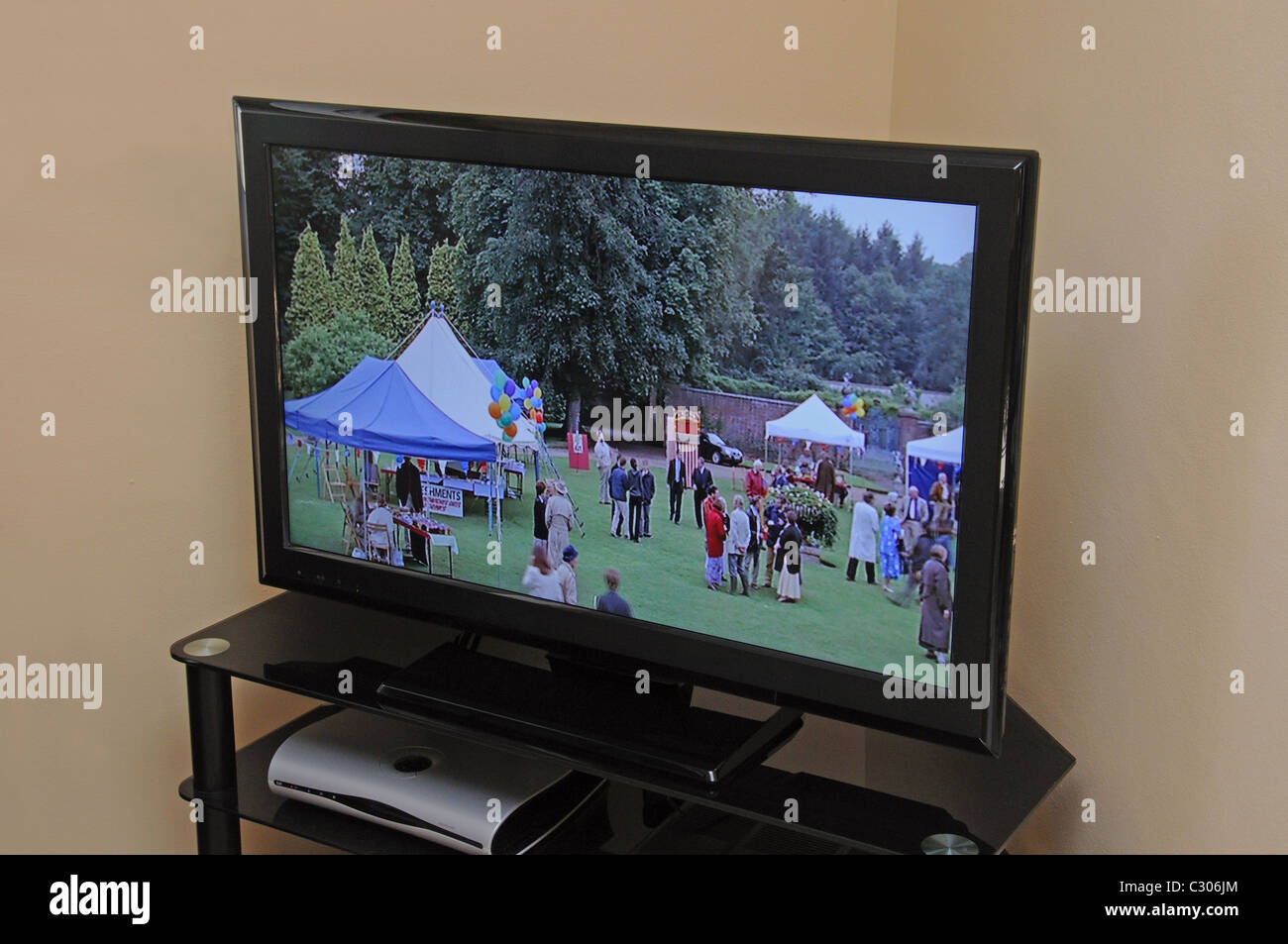 Widescreen high definition LCD television. - Stock Image