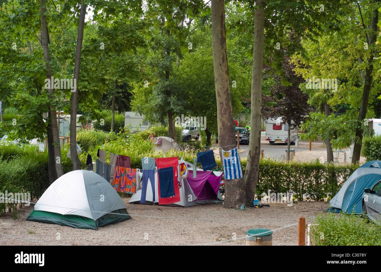 camping france paris stock photos & camping france paris stock