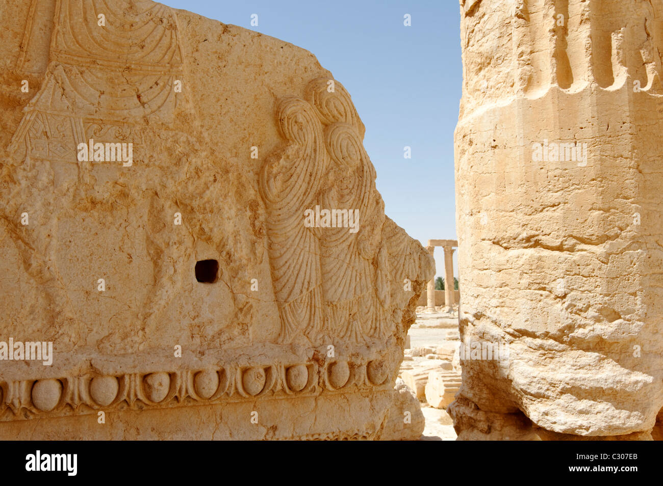 Palmyra Syria A Bas Relief That Is A Marvellously Expressive Piece