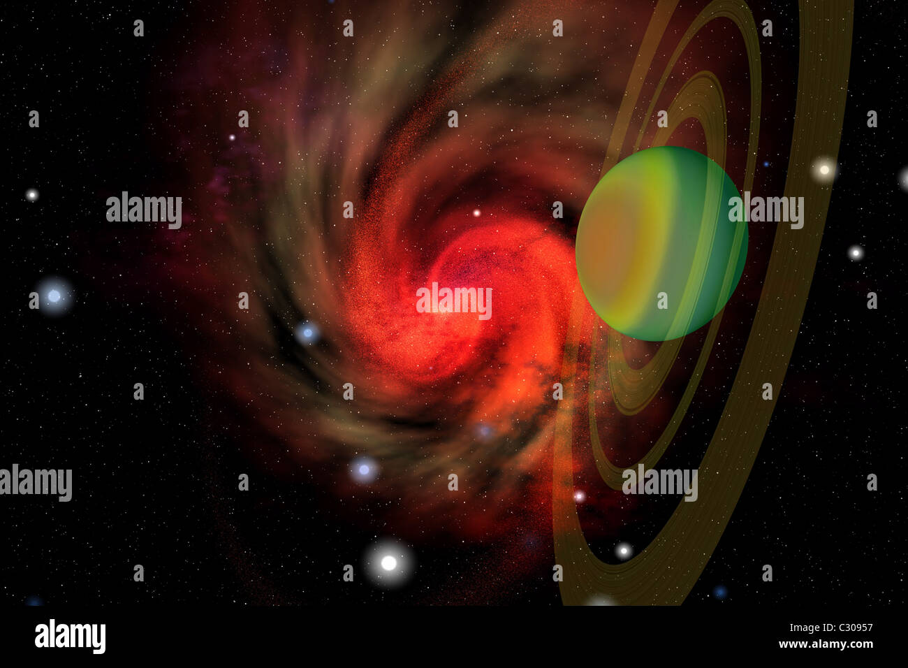 Cosmic image of the universe. - Stock Image