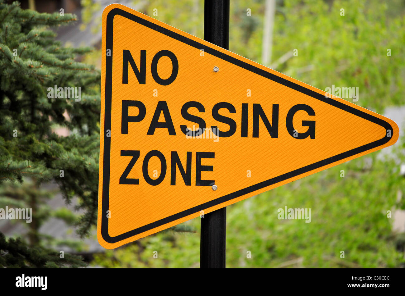 no passing sign - Stock Image