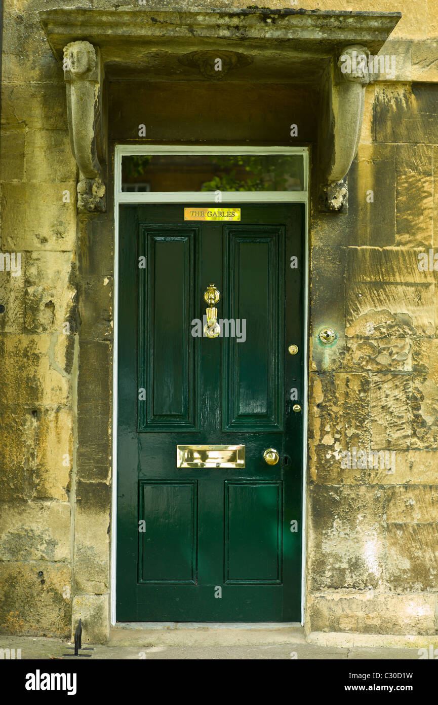 Elegant Georgian style doorway in Chipping Campden, The Cotswolds, Gloucestershire Stock Photo
