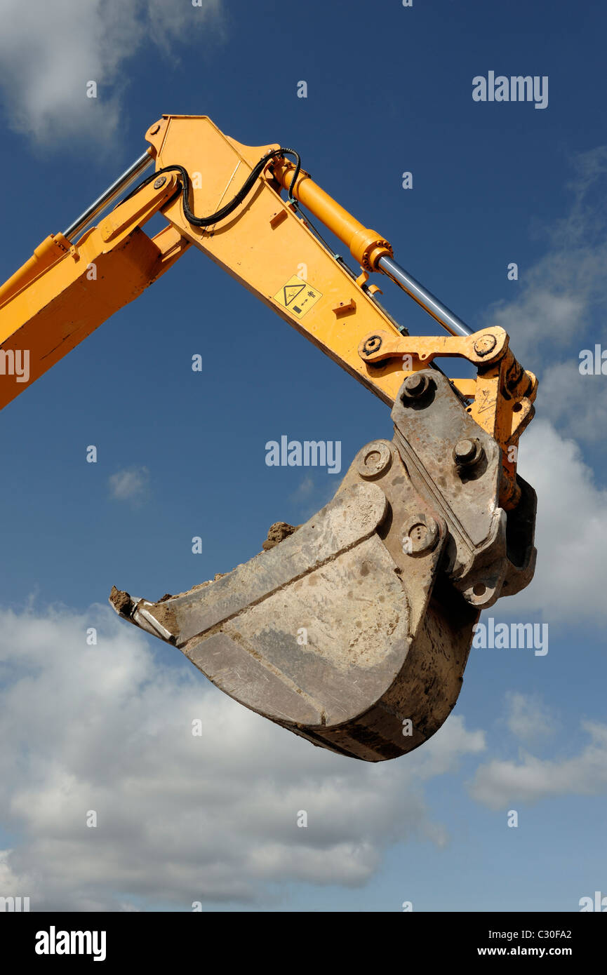 Digger arm and bucket Stock Photo
