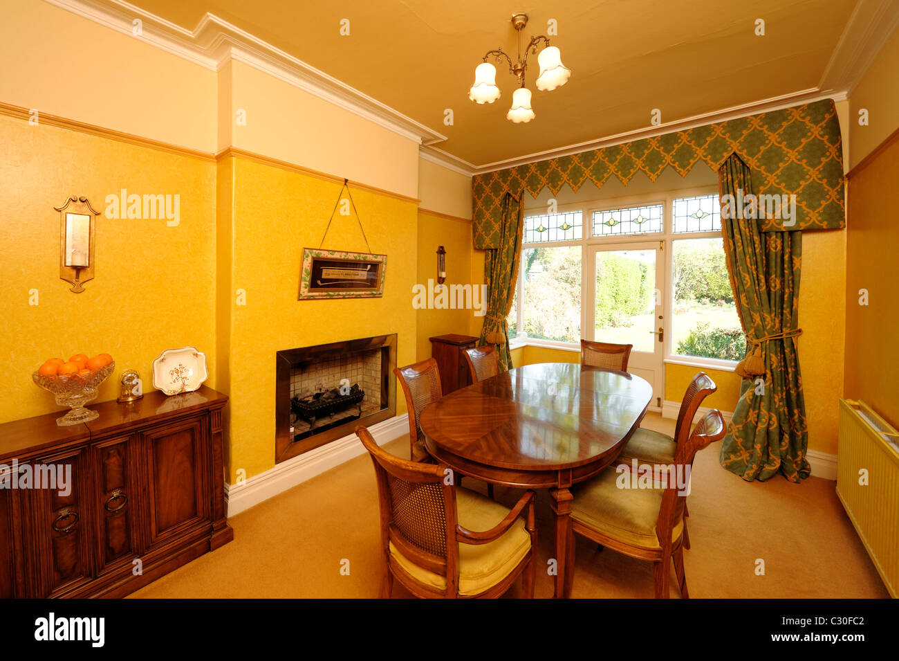 Period dining room - Stock Image
