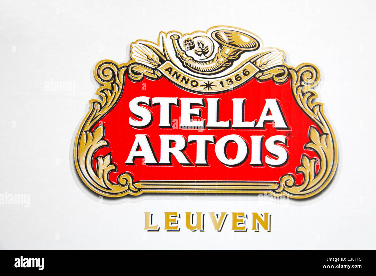 Stella Artois logo Stock Photo