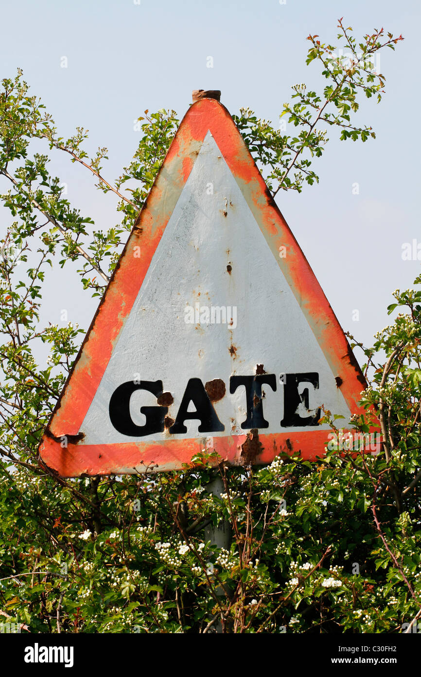 Gate sign - Stock Image