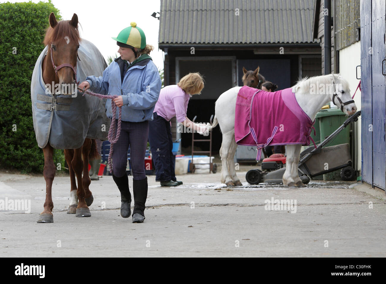 Malzard Riding Stables St Ouen Jersey Channel Islands - Stock Image