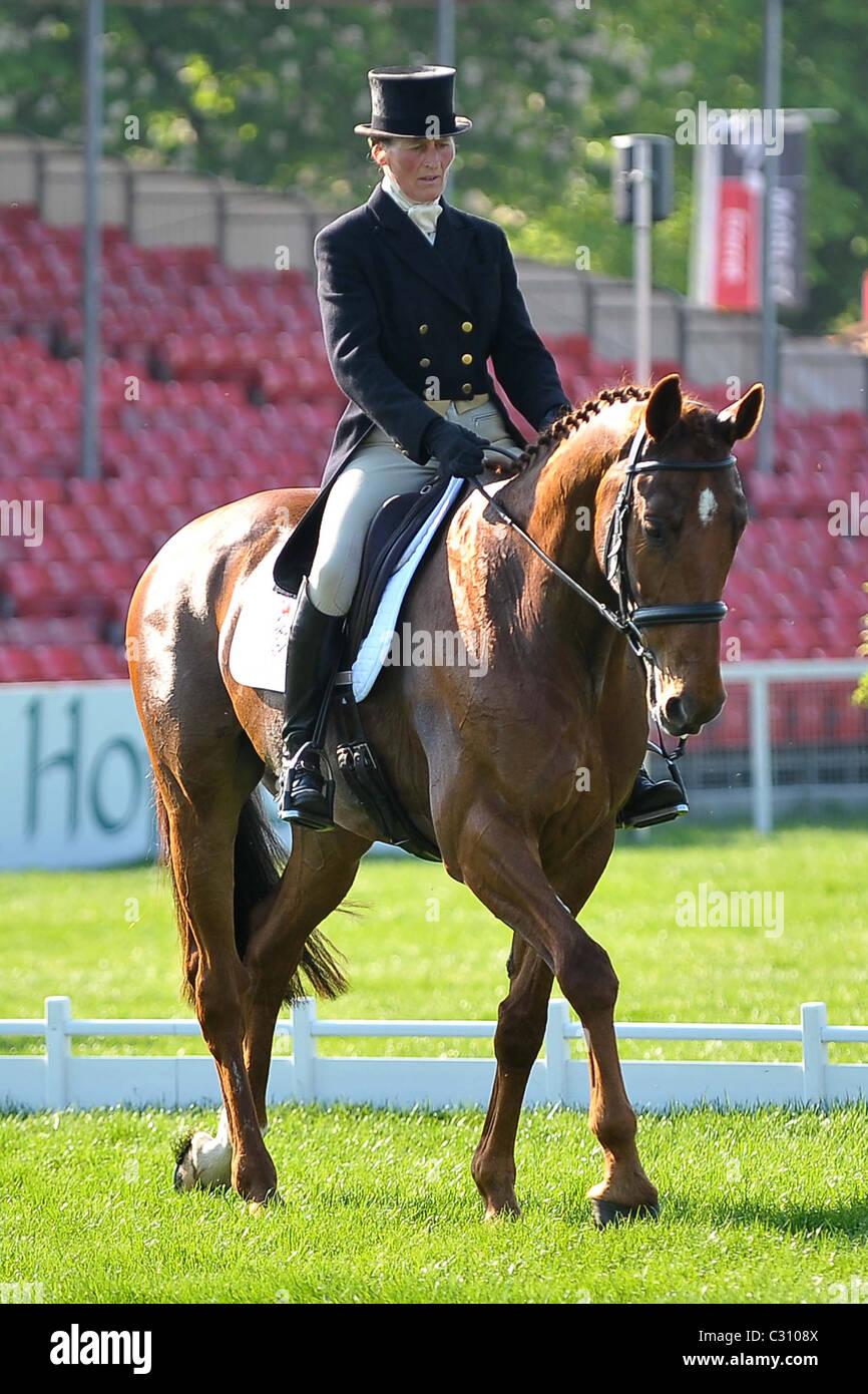 Vicky Brake riding LOOKS LIKE FUN. Mitsubishi Badminton Horse Trials - Stock Image