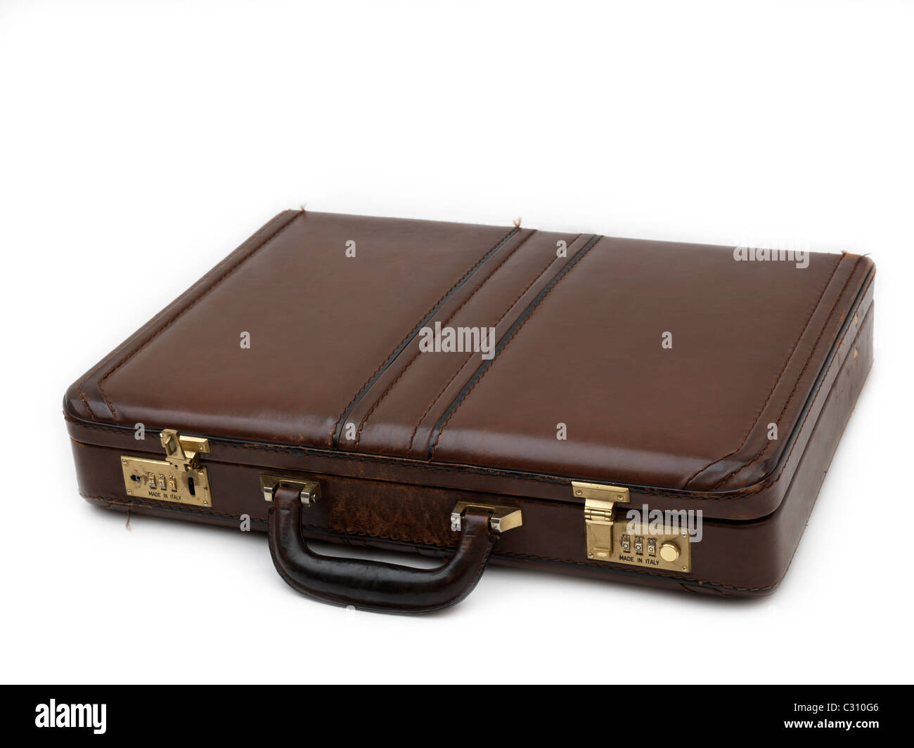 Black And Brown Briefcase - Stock Image