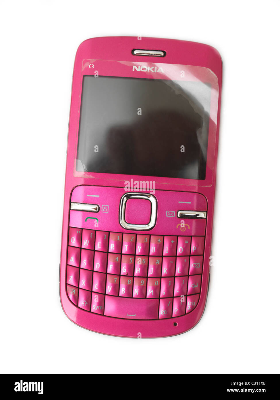 Pink Nokia Mobile Phone - Stock Image
