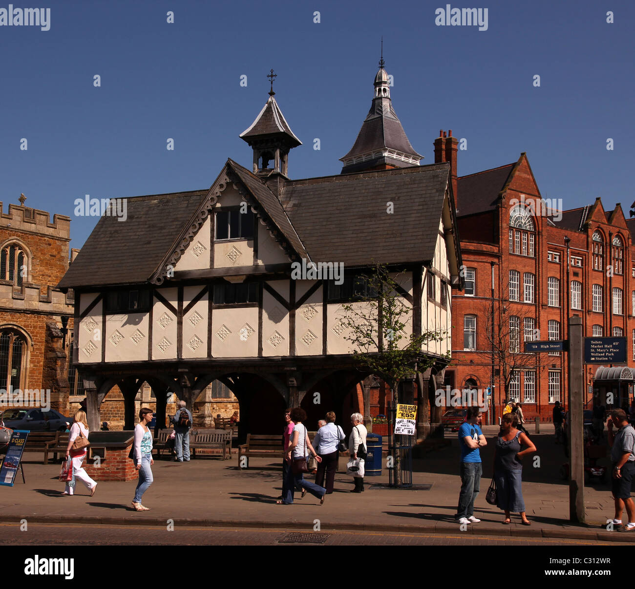 The Old Grammar School, Market Harborough, Leicestershire, England, UK - Stock Image