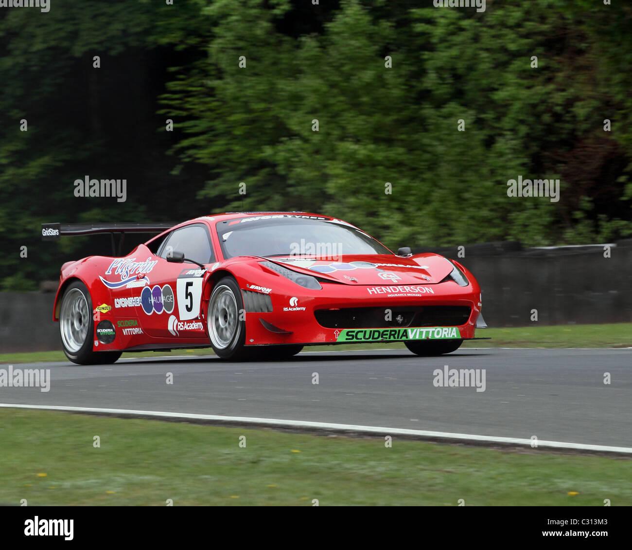 Ferrari 458 Gt3 Race Car In The 2011 British Gt Championship At