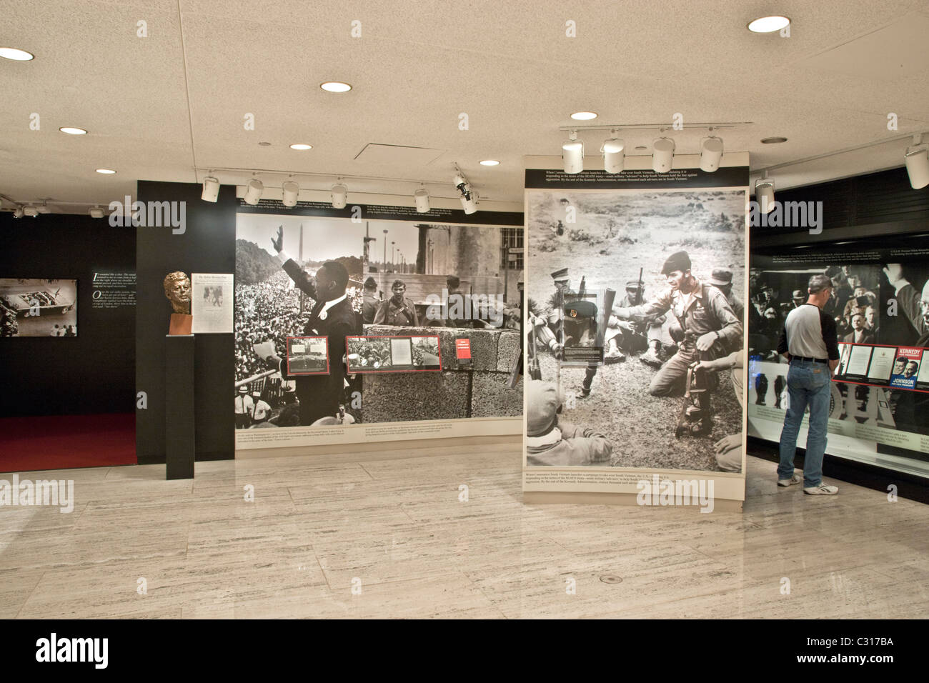 History of the 1960's, 'LBJ' Library & Museum' Stock Photo
