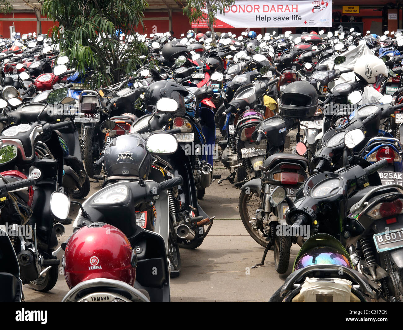 Motorbikes, Indonesia, March 2011 - Stock Image